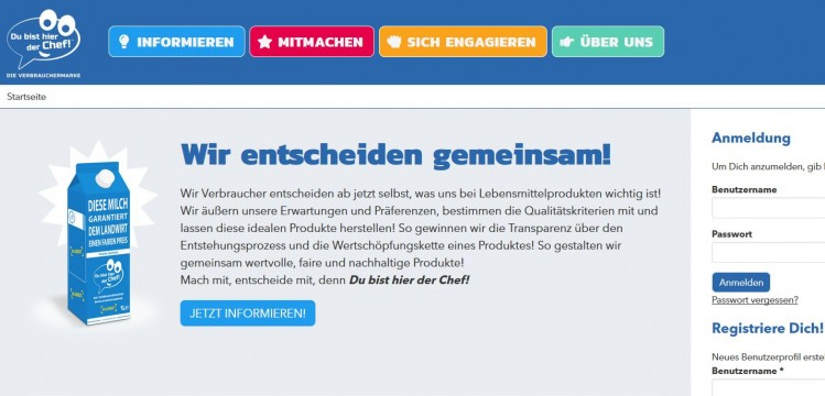 Screenshot Homepage Du bist hier der Chef